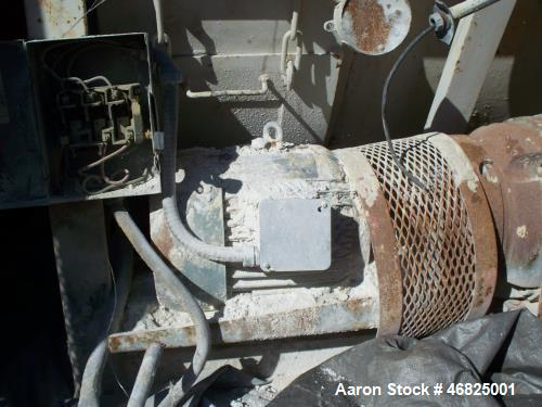 Used- Continental Rollo-Mixer, Model 62-50 Carbon Steel Product Contact. Nominal Capacity of 2 tons for product density of 9...