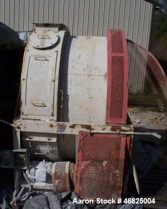 Used- Continental Rollo-Mixer, Carbon Steel construction, Model 62-50. Nominal Capacity of 2 tons for product density of 90 ...