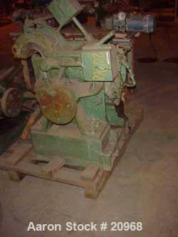 Used- Banbury Mixer, Model 00, Carbon Steel. Chrome plated steel rotor, body and ends. Capacity 5 pounds at 1.25 SP gravity,...