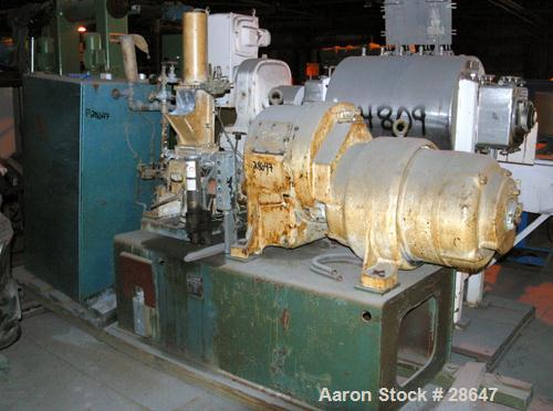 Used- Farrel-Birmingham Banbury Mixer,  Model B, Carbon Steel. 2.6 pound capacity, side open design. Air operated feed ram w...