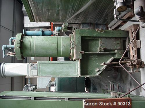 USED- Farrel Pomini Banbury Mixer, Model F80. Jacketed chamber, drop door design. 4 wing style cored rotors, approximately 3...