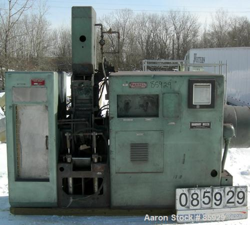Used- Farrel Banbury Mixer, Model 00C. Jacketed chamber, drop door design, rated 150 PSI water or steam. Wing style cored ro...