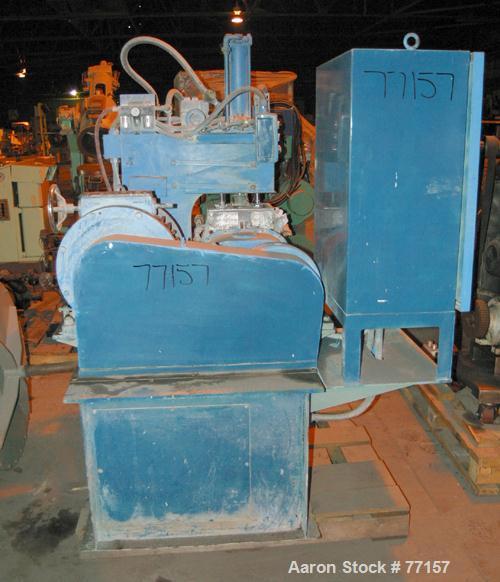 Used: Moriyama dispersion mixer, batch mixer/compounder, type D3-7.5. 3 liter mi