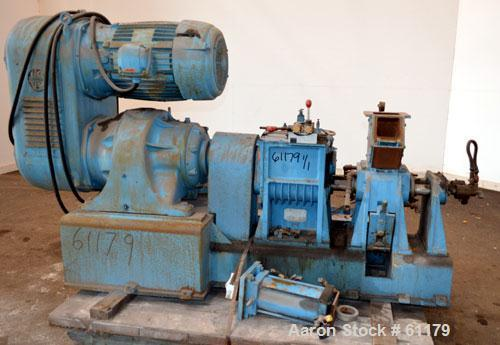 "Used- Teledyne Readco 5"" High Intensity Batch Mixer Compounder, 100 Cubic Inch (0.43 gallon), 304 Stainless Steel. Jacketed ..."