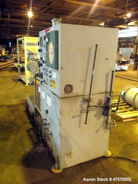 Used- Stewart Bolling Lab Internal Rotor Mixer, Model 00. 1.6 Liter mixer volume, driven by a 30hp DC motor with SCR control...