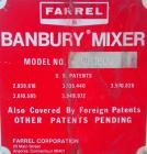 Used- Farrel Laboratory Size Banbury Mixer, Model BR1600. Chamber net volume 1.6 liters (0.41 gallons), approximate compound...