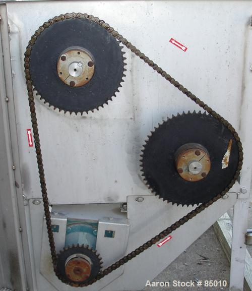 Used- Stainless Steel Brown International Corp Twin Shaft Paddle Style Continuous Mixer, Model 1000