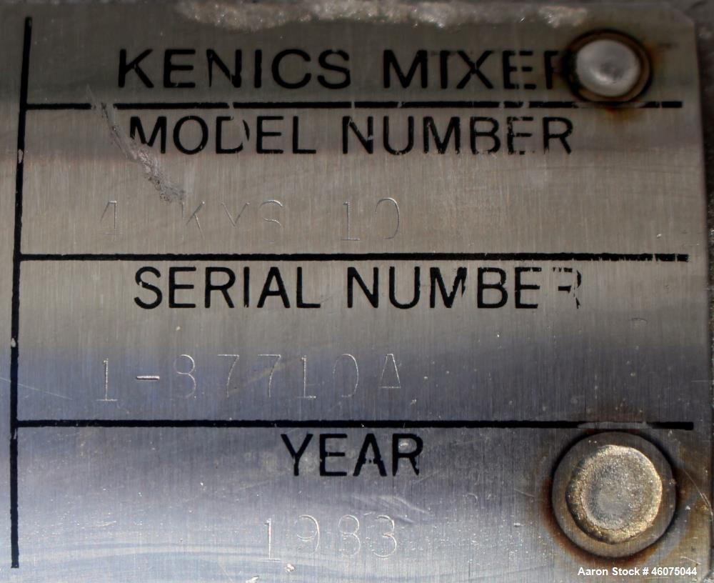 """Used- Chemineer Kenics Fixed Element Static Mixer, Model 4-KMS-10, Stainless Steel. Approximate 4"""" diameter x 57"""" long tube,..."""