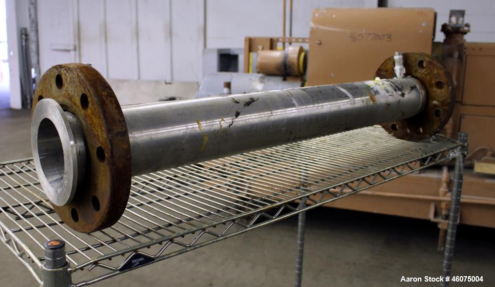 "Used- Chemineer Kenics Fixed Element Static Mixer, Model 4-KMS-6, Stainless Steel. Approximate 4"" diameter x 42"" long tube, ..."