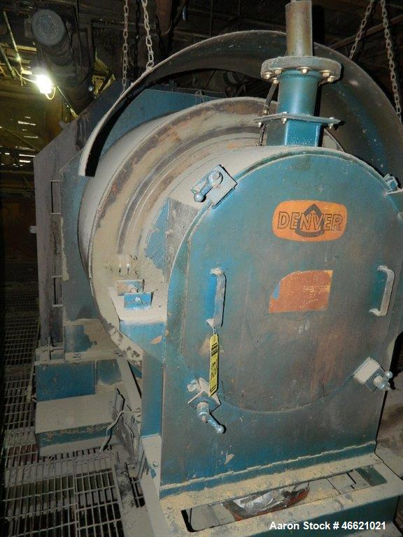Used- Denver HiFlo Rotary Blender, Carbon Steel. Approximately 4' diamemter x 15' long drum.