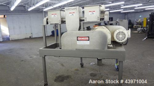 Used- Fitzpatrick Malaxator Continuous Mixer, 304 Stainless Steel