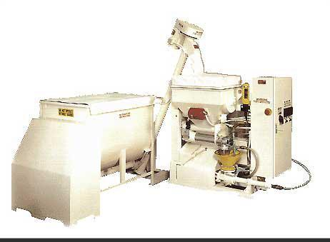 "Used-HWZ Mason Flo Mixer, Model 200 A.  22 Cubic foot capacity, 230/460V, 3 phase, 50 hz, 51"" long x 47"" wide x 56"" high, 3/..."