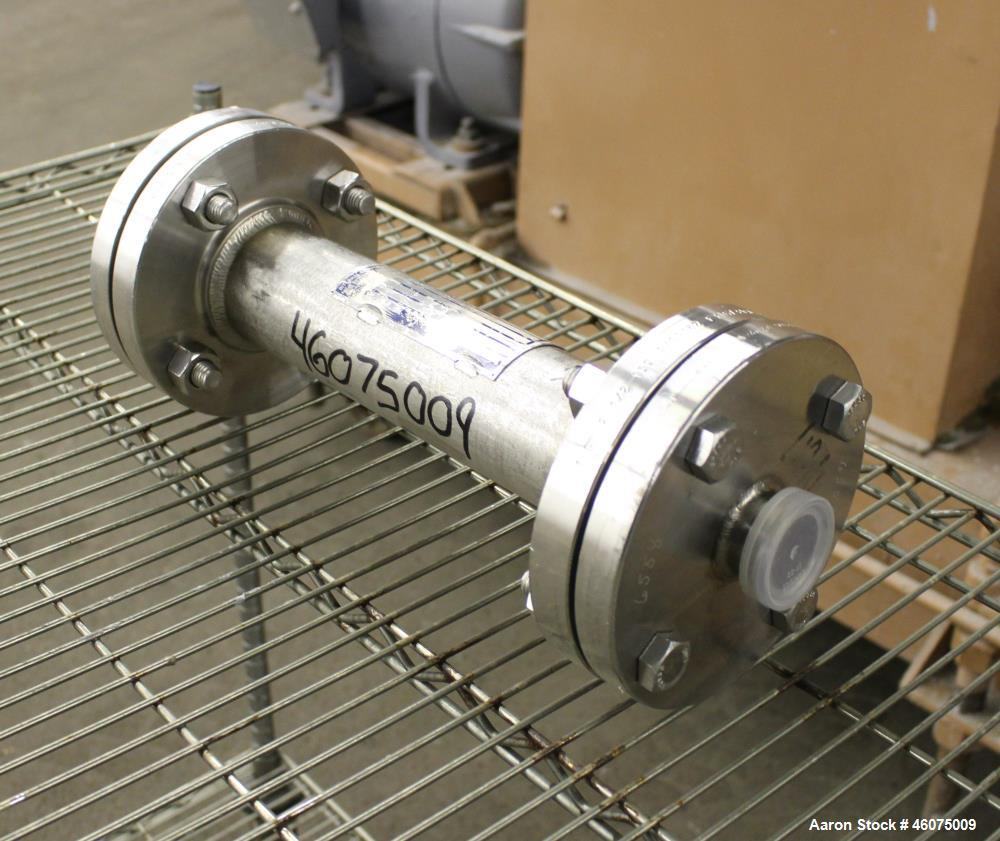 "Used- Koch-Glitsch Static Mixer, Type SMX, Stainless Steel. (4) Mixing elements, approximate 2-1/2"" diameter x 14"" long cham..."