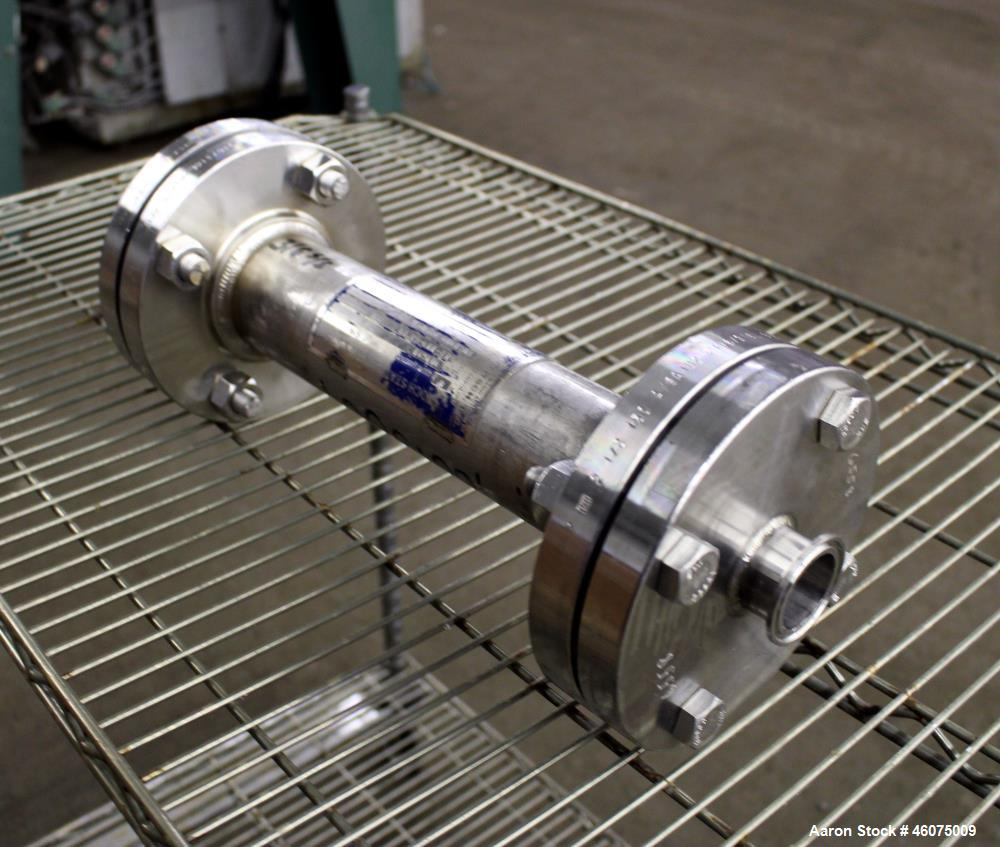 """Used- Koch-Glitsch Static Mixer, Type SMX, Stainless Steel. (4) Mixing elements, approximate 2-1/2"""" diameter x 14"""" long cham..."""