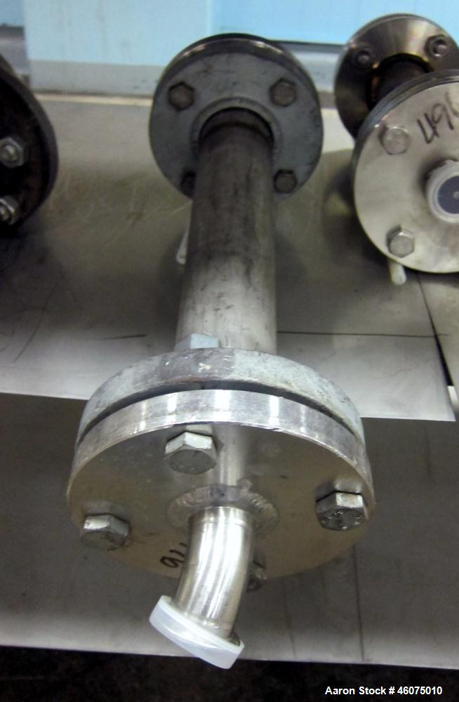 "Used- Koch-Glitsch Static Mixer, Type SMX, Stainless Steel. (4) Mixing elements, approximate 2-1/2"" diameter x 18"" long cham..."