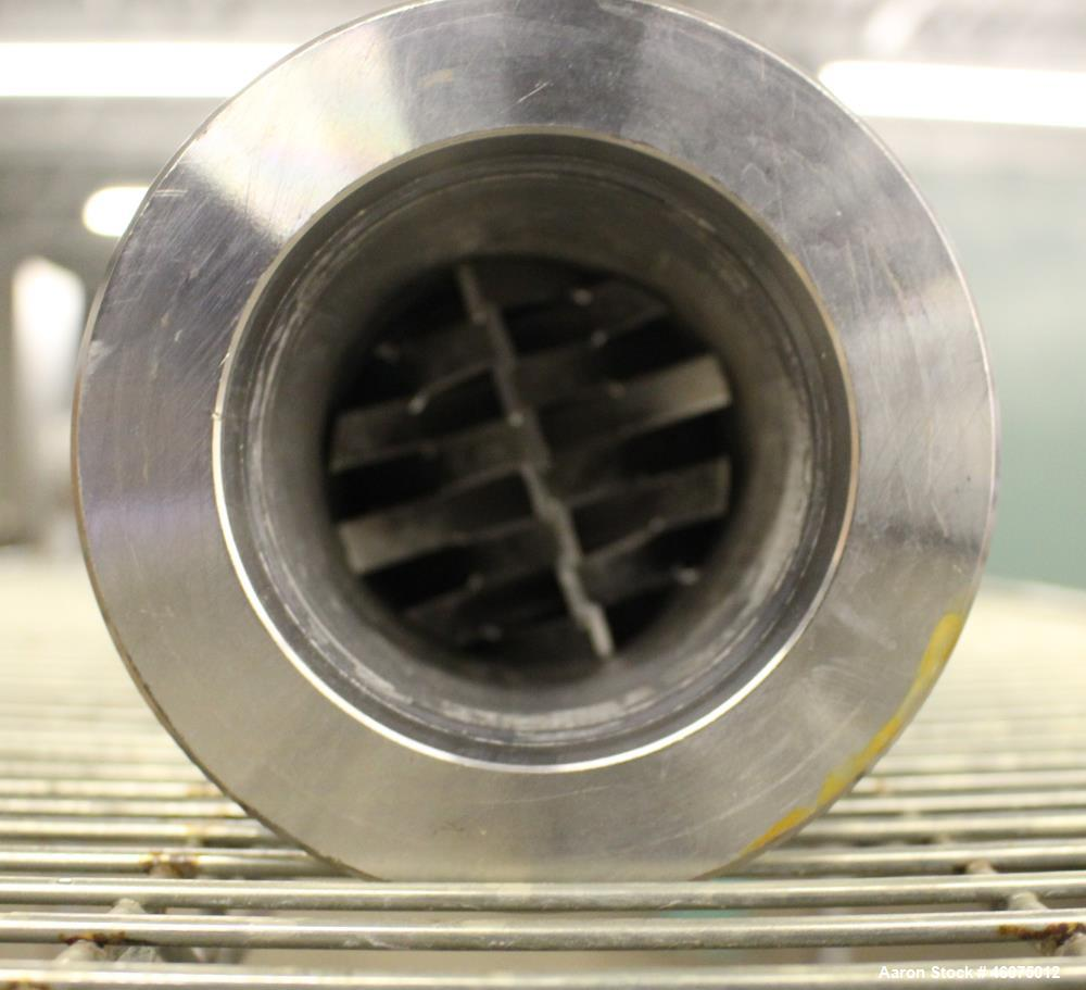 "Used- Koch-Glitsch Static Mixer, Type SMX, Stainless Steel. (6) Mixing elements, approximate 3-1/2"" diameter x 20"" long cham..."