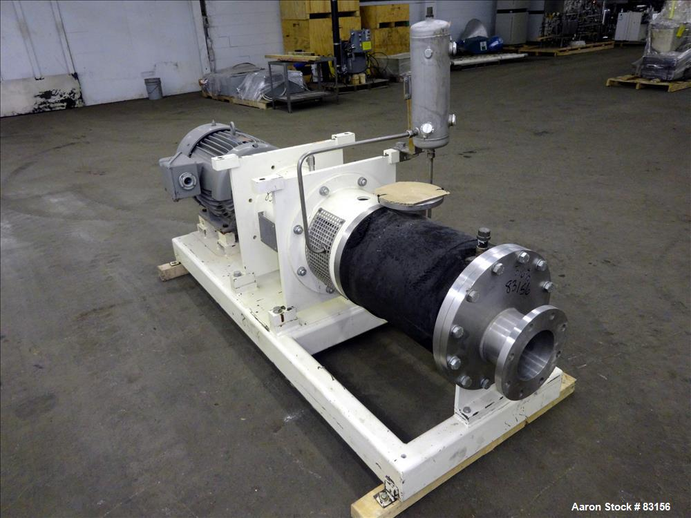 Used- Stainless Steel Lipp Inline Continuous Rotor/Stator Shear Force Mixer