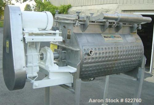 "USED: Marion mixer, model HPS-2748, 15 cu ft capacity, dimple jacketedat 125 psi, new 1993. 3-7/16"" diameter shaft, hinged/c..."