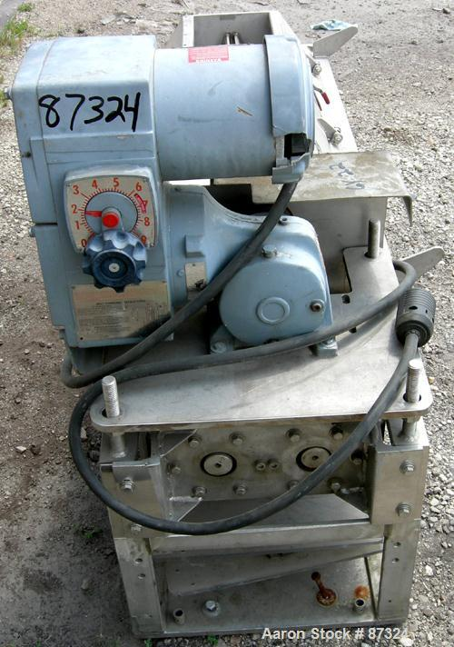 "Used- Dual Shaft Continuous Screw Blender, 304 Stainless Steel. (2) 8"" Diameter x 44"" long screws. Clamshell design non-jack..."