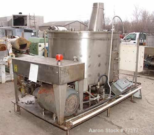 "USED: Oakes continuous slurry mixer, model 60SMVJ40H, stainless steel. 440 gallon jacketed tank, 60"" diameter x 36"" deep. 1/..."