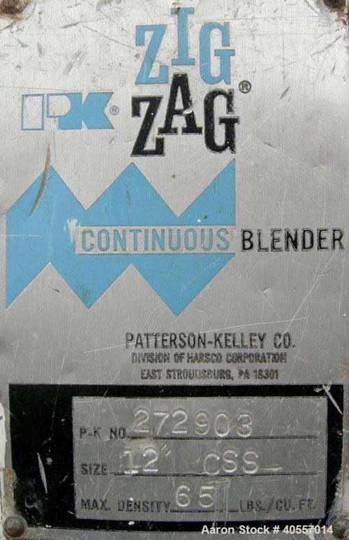 """Used- Stainless Steel Patterson Kelley Continuous Zig-Zag Blender, model 12"""""""