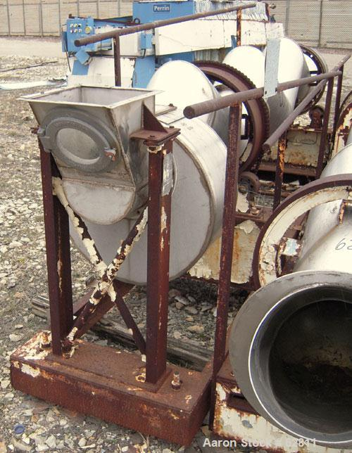 "Used- Patterson Kelley Continuous Zig-Zag Blender, Model 12""C.S.S, 304 Stainless Steel.  12"" diameter x approximately 11' lo..."
