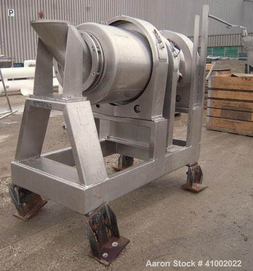 Used- Stainless Steel Patterson Kelley Continuous Solids-Solids Zig-Zag Blender, Model CSS-MID
