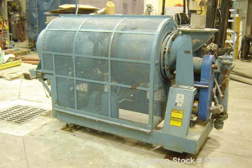 "USED: 12"" Patterson Kelley continuous stainless steel zig zag blender, size 12, rated for 50 pounds per cubic foot bulk dens..."