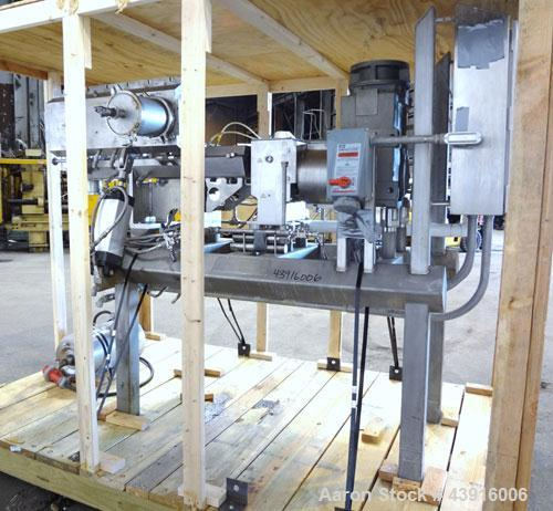 "Used- Readco 5"" Twin Shaft Continuous Processor, 316 Stainless Steel.  (2) 5"" Diameter x 36"" long shafts with mixing element..."
