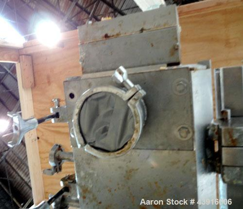 """Used- Readco 5"""" Twin Shaft Continuous Processor, 316 Stainless Steel.  (2) 5"""" Diameter x 36"""" long shafts with mixing element..."""