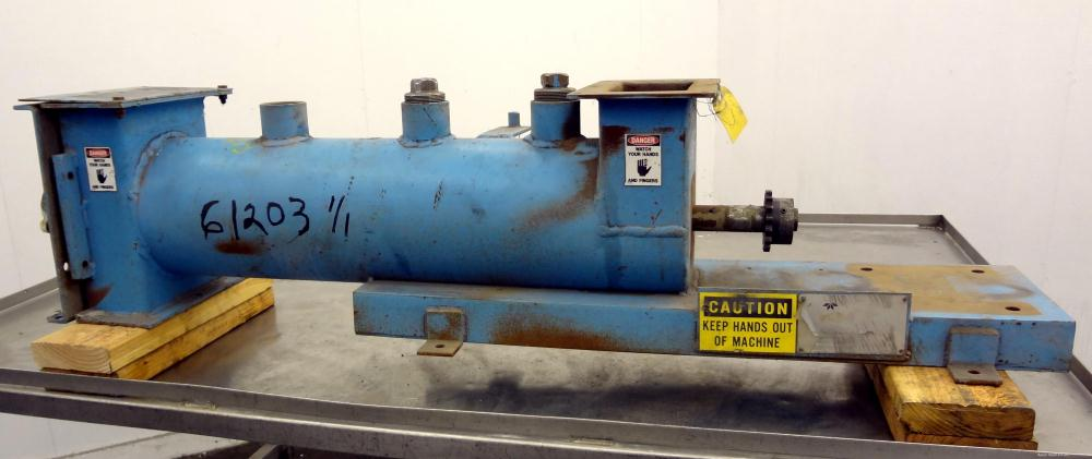 """Used- Teledyne Readco Continuous Pin Mixer, Model 8"""", Carbon Steel. 8"""" Diameter x 32"""" long non-jacketed horizontal chamber. ..."""