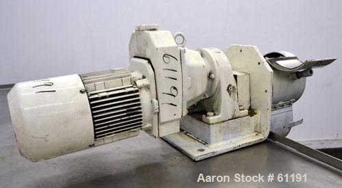 """Used- Teledyne Readco Batch Type Pin Mixer, Model TR8-8, 316 Stainless Steel. 8"""" Diameter x 8"""" long non-jacketed horizontal ..."""