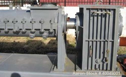 """Readco Twin Screw Continuous Mixer,  (2) Approximately 13"""" diameter x 6' long Screws. Stainless steel.  With 300 hp Drive.  ..."""