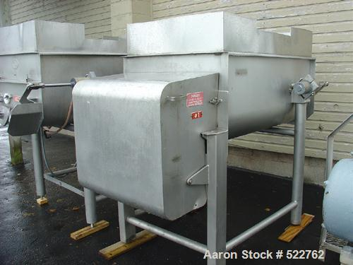 "USED: Rietz twin shaft ribbon blender, model RS-18-K5405. All stainless steel construction, 1,000 pound capacity, (2) 18"" di..."