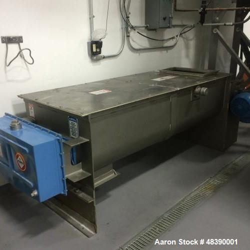 "Used- S. Howes, Model C-62, Duplex Continuous Mixer. 304 stainless steel construction. Approximately 27 3/8"" wide x 72"" long..."