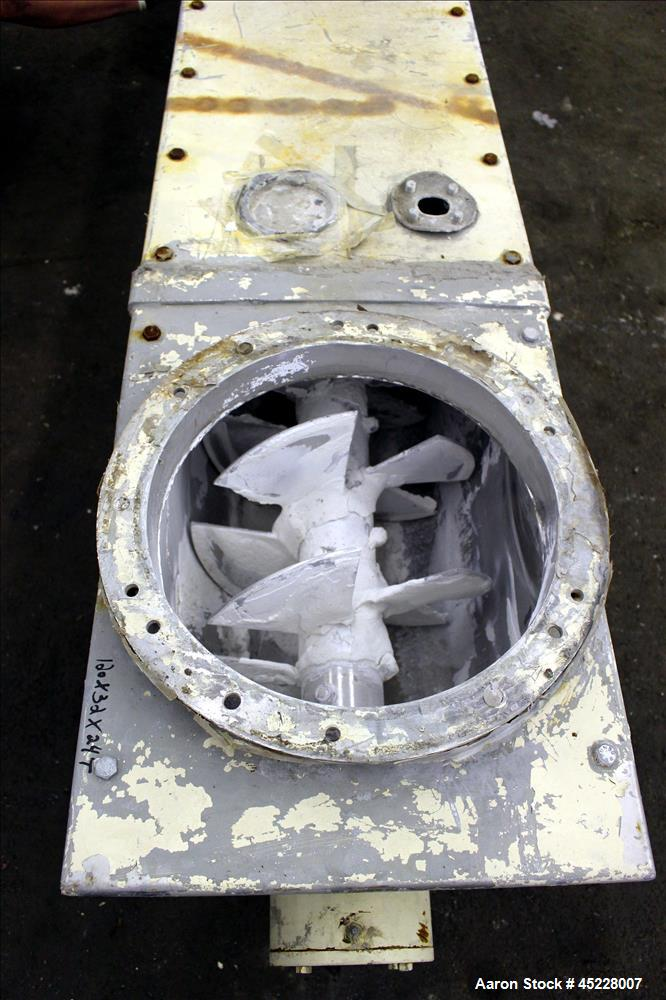 "Used- AMMAG Continuous Paddle Mixer, Model SCHN, 304 Stainless Steel. Trough approximate 106"" long x 14-1/8"" wide x 16"" deep..."