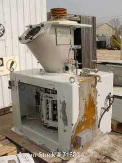 "USED: Schugi model 400 Flex-O-Mix, stainless steel and rubber construction. 25"" diameter x 35"" straight side mixing chamber...."