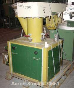 """USED: Schugi mixer, type Flexomix 250. Carbon steel construction, rubber lined on product contact parts. (1) 5.9"""" diameter (..."""