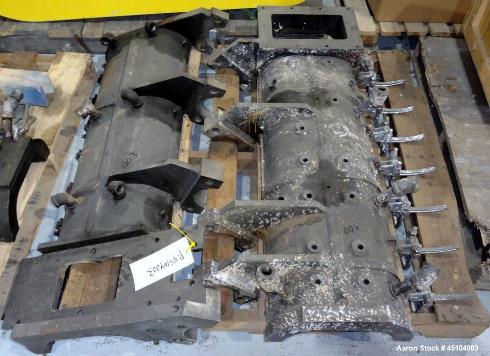 """Used- Teledyne Readco 6"""" Twin Shaft Continuous Processor Parts"""