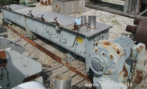 """USED: Teledyne Readco continuous ribbon mixer, 304 stainless steel, 14"""" diameter x 12' long.  Bolt on outer ribbon 3/8"""" thic..."""