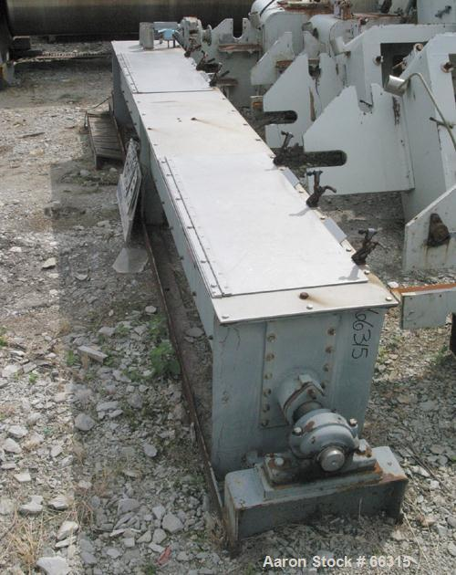 "USED: Teledyne Readco continuous ribbon mixer, 304 stainless steel, 14"" diameter x 12' long.  Bolt on outer ribbon 3/8"" thic..."