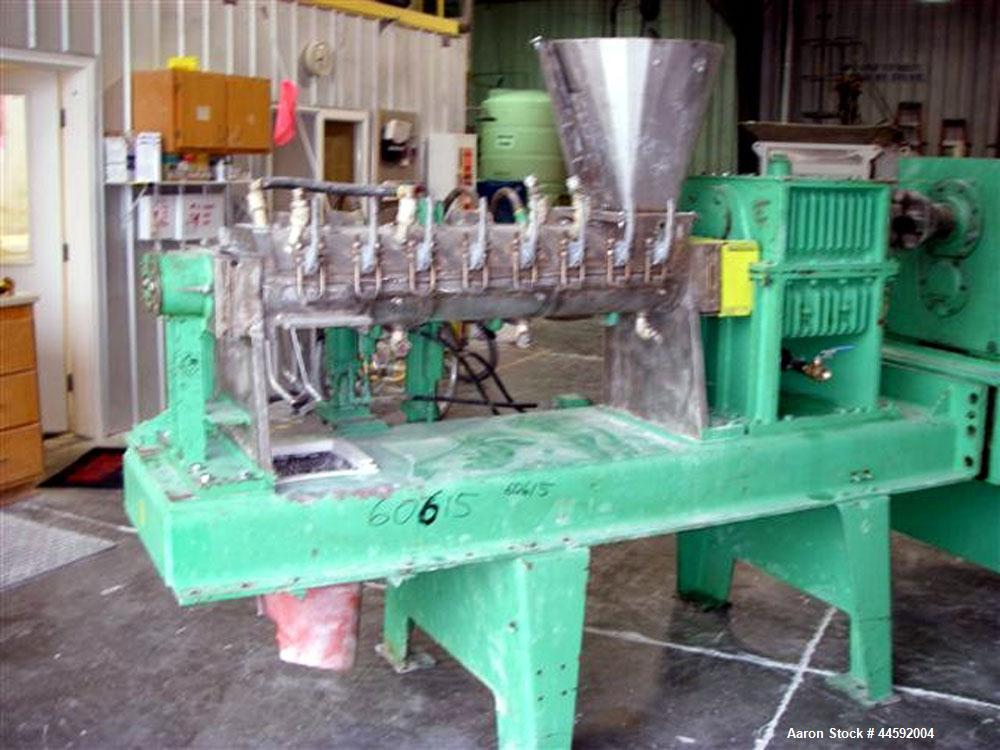 """Used-Teledyne Readco Horizontal 6"""" Twin Screw Continuous Mixer. Constructed of T316 stainless steel with stainless steel jac..."""