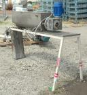 Used- Continuous Mixer. MU Metal non-jacketed trough 8