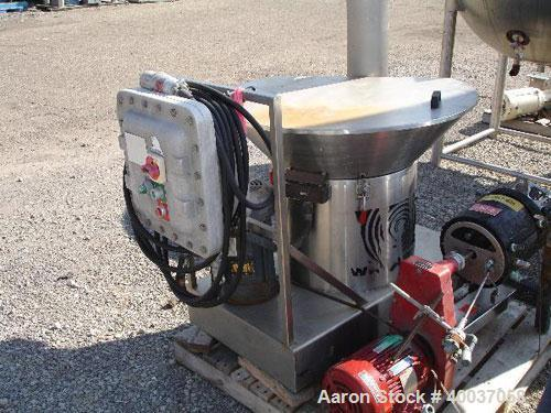 Used- Stainless Steel Whirlwind Blend, Sift, Grind, Convey and Dump Mixer