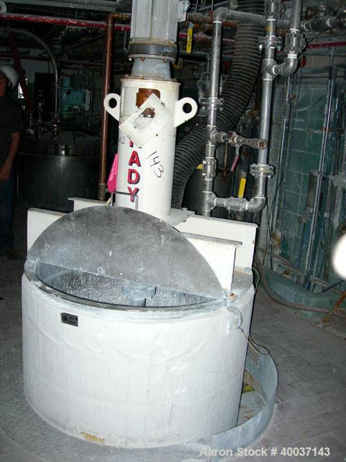 "Used-Used: Kady Mill, model 5C, stainless steel. Approximately 300 gallon capacity. 42"" diameter x 68"" deep tank. 8"" diamete..."