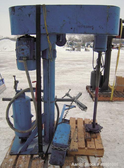 """Used- High Speed Disperser. (1) 1 3/4"""" diameter carbon steel shaft with a 10"""" diameter 321 stainless steel blade. Will cente..."""