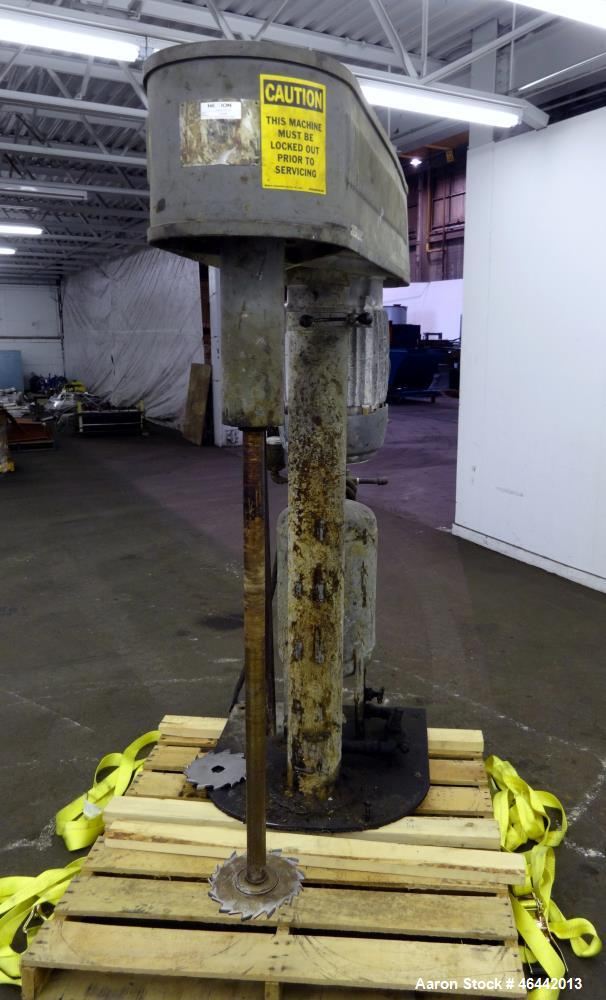 "Used- Hockmeyer Disperser. Approximate 1-3/4"" diameter x 41-1/2"" long 304 stainless steel shaft with a 9"" diameter saw tooth..."