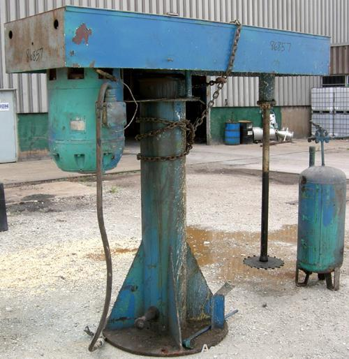 "USED: Disperser, 2"" diameter x 51"" long 321 stainless steel shaft with 12"" diameter sawtooth blade. Will center in an approx..."
