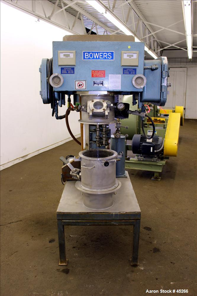 Used- Stainless Steel Bowers Vacuum Orbital Shaft Processor, Model 10L O.S.P.