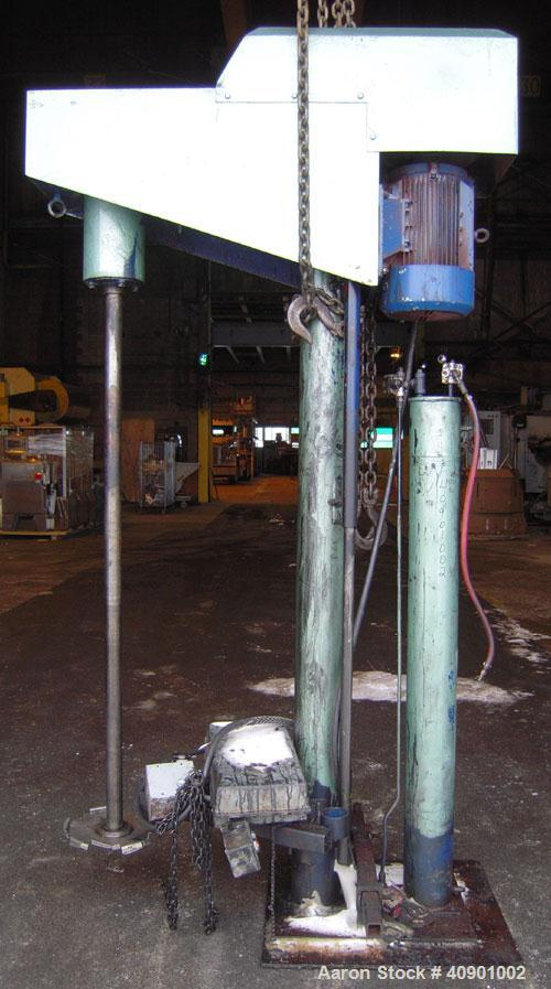 "Used- Bowers High Speed Disperser, Model 25VSM. 2 1/4"" diameter x 72"" long carbon steel tapered shaft with a 14"" diameter 30..."